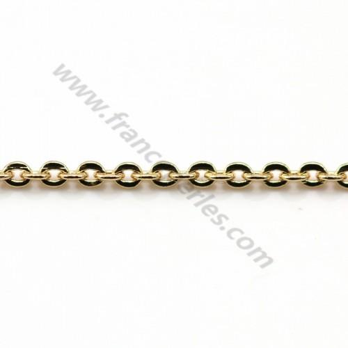 Chain oval stitch golden flash1.7*2.0mm x 1M