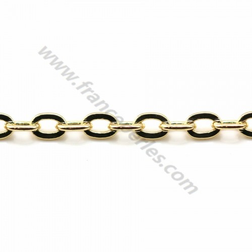 Chain oval stitch golden flash 2.7*3.4mm x 1M