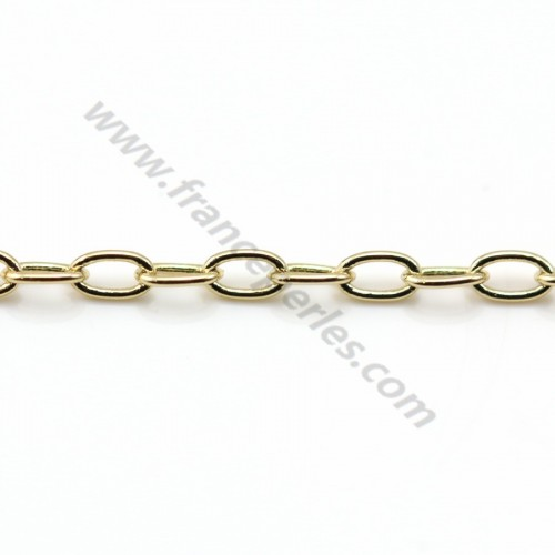 Oval chain golden flash  2*2.5mm x 1M