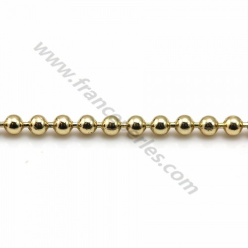 Chain golden flash small ball 1.5mm x 1M