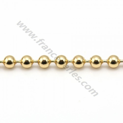 Chain golden flash small ball 2.5mm x 1M