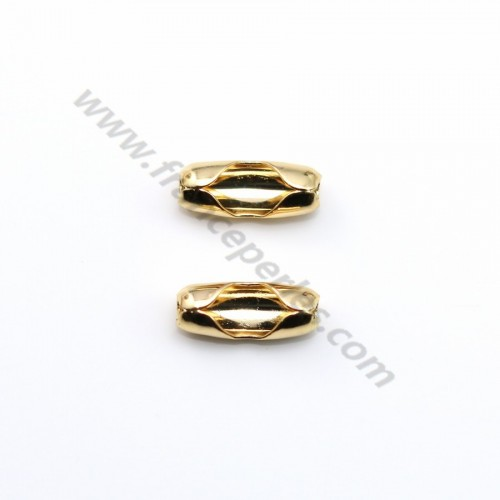 "Ball chaine terminators 1.5mm plated by ""flash"" Gold on brass x 6pcs"