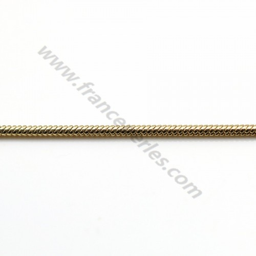 Snake chain golden flash 1.4mm x 1M