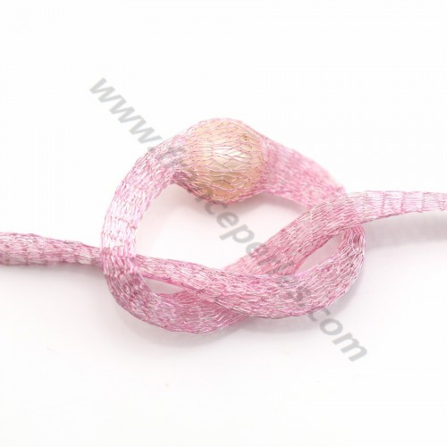 Wire mesh 6mm light pink x 91.4cm