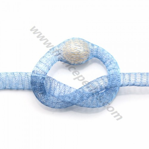 Wire mesh 6mm light blue x 91.4cm