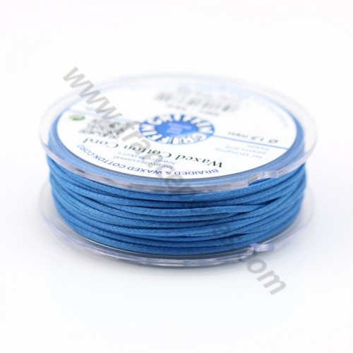 Blue waxed cotton cords 2.0mm x 5m