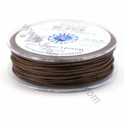 Dark brown waxed cotton cords 2.5mm x 5m