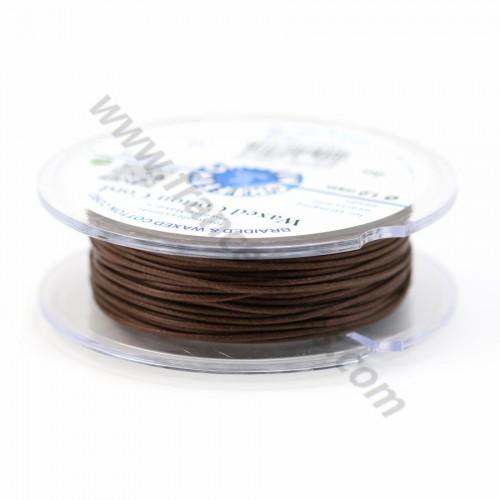 Dark brown waxed cotton cords 1.0mm x 20m