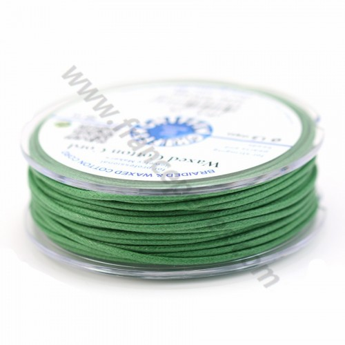 Olive waxed cotton cords 1.5mm x 20m