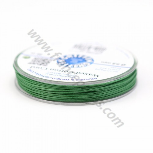 Olive waxed cotton cords 0.8mm x 20m
