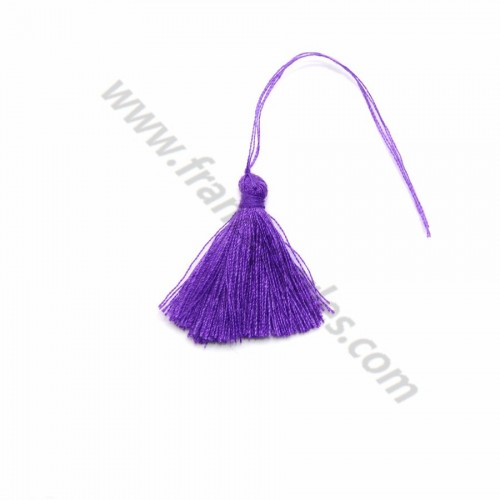 Purple pompon in cotton 30mm x 1pc