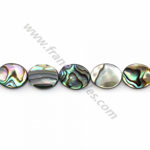 Abalone shell oval 8*10mm X 40cm
