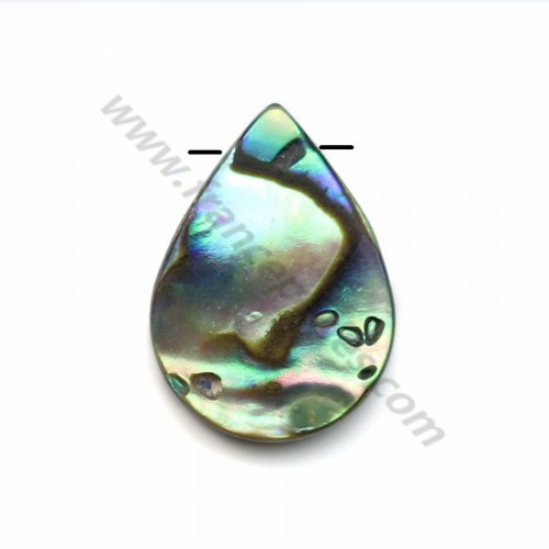 Abalone mother-of-pearl flat drop beads 13x18mm x 1pc