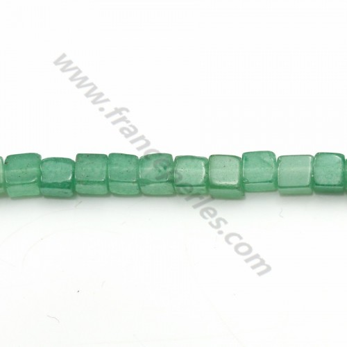 Aventurine carré 4mm x 10 pcs