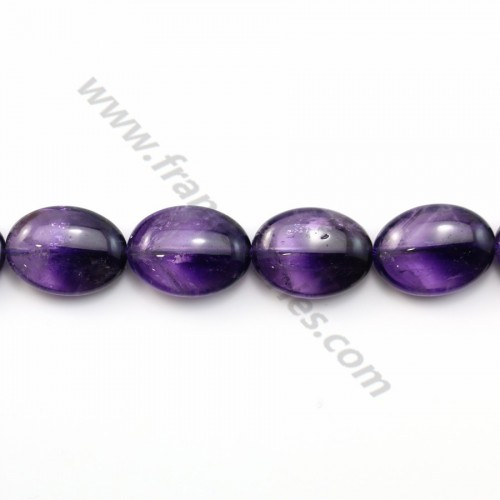 Amethyst oval 15*20mm x 1pc