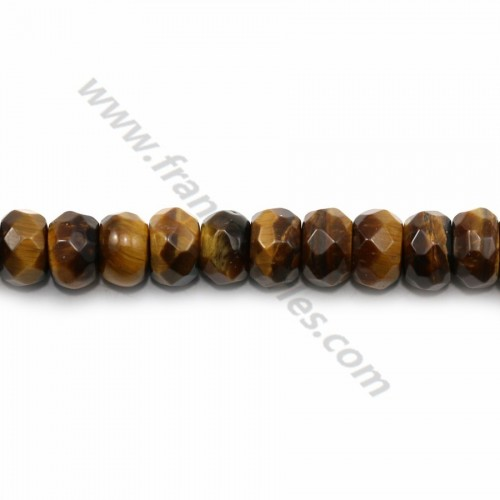 Yellow tiger eye faceted rondelle 4*6mm x 40cm