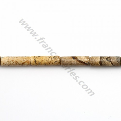 Picture jasper tube 4*13mm x 10pcs
