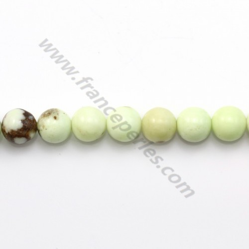 Lemon chrysoprase round 6mm x 40cm