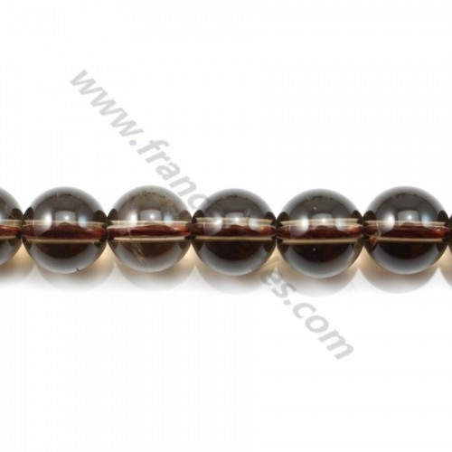 Smoky Quartz Round 12mm X 40cm