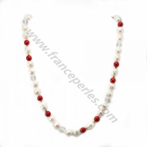 Simple Pearl Freshwater Purple Tint 8MM Necklace Morgane