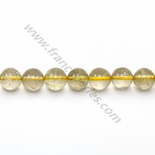 Rutile quartz round 8-8.5mm x 40cm