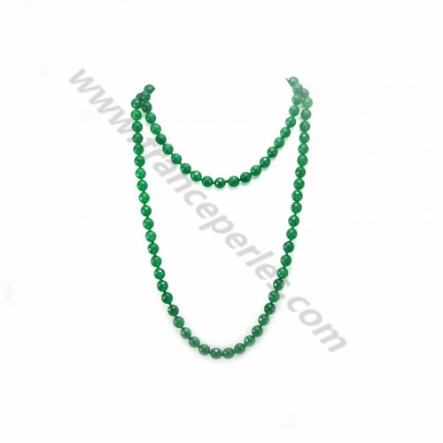 Necklace green agate 8mm x 90cm