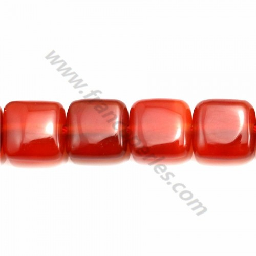 Red agate square 8mm x 40cm