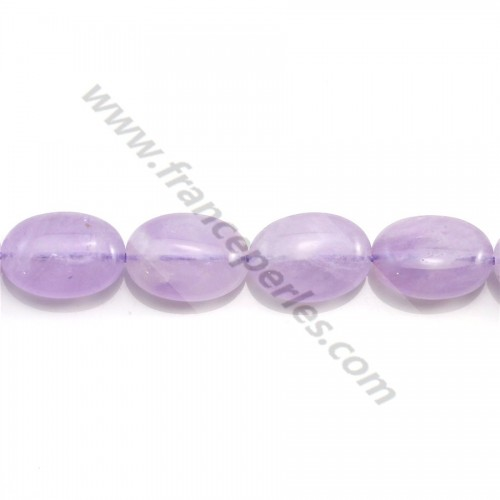Clear amethyst sculpted round 6mm x 40cm