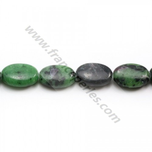 Ruby zoisite oval 10*14mm x 4 pcs