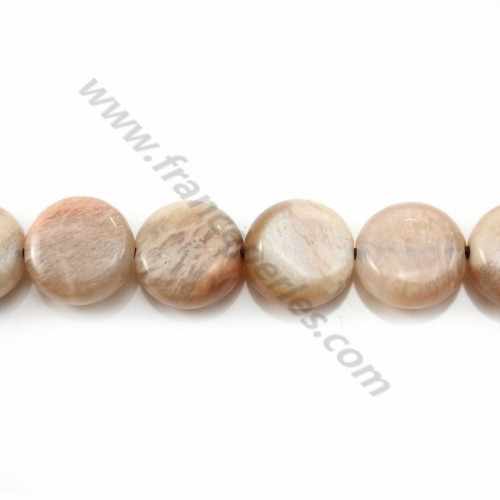 Sunstone round flat 14mm X 4 pcs