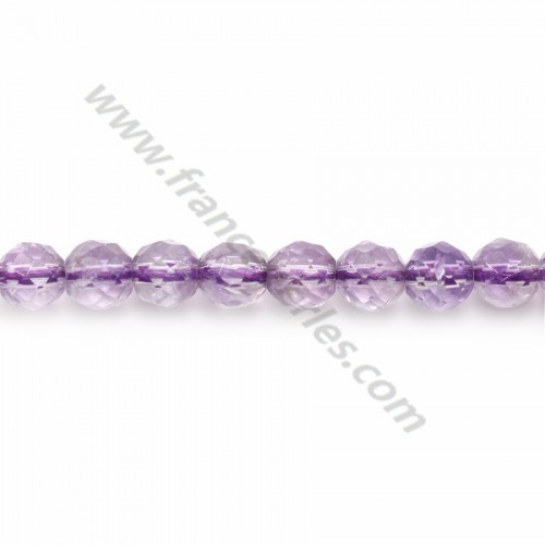 Ametrine faceted round 6mm x 10 pcs