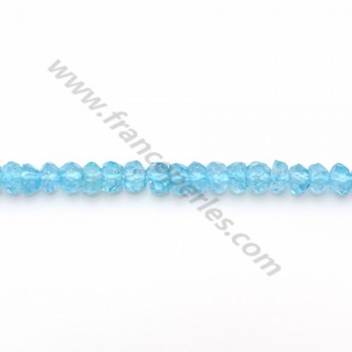 Blue Topaz facet rondelle 3.5-4mm x 33cm