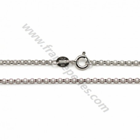 Jaseron links necklace sterling silver 925 2mm x 40cm