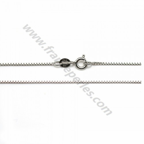 925 sterling silver rhodium chain 0.7mm x 40cm