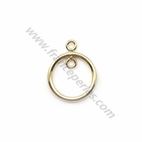 14k gold filled pendant ring  11mm x 1pc