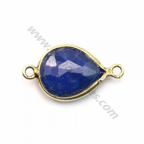 Treated Sapphire Teardrop 9*13mm set in Gold Plated Silver