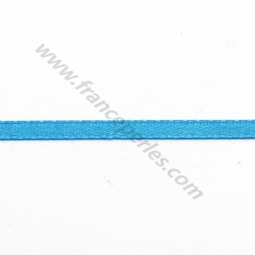blue sky Double face satin  Thread polyester 3mm X 5 m