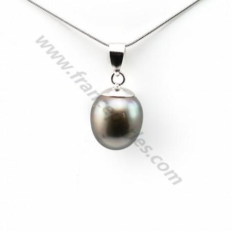 Pendant tahiti pearl & straling silver 925 12.5x15mm x 1pc