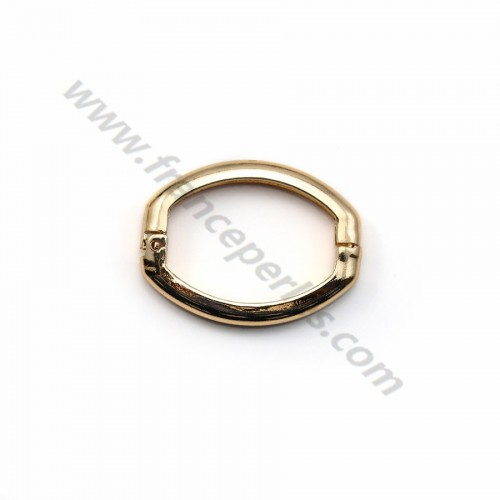 "Clasp click stuck by ""flash"" gold on brass  20x26.6mm x 5pcs"