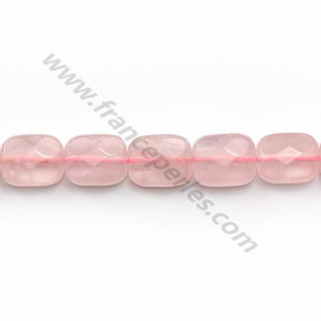 Pink quartz faceted rectangle 8x10mm x 40cm