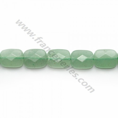 Aventurine faceted rectangle 8x10mm x 40cm