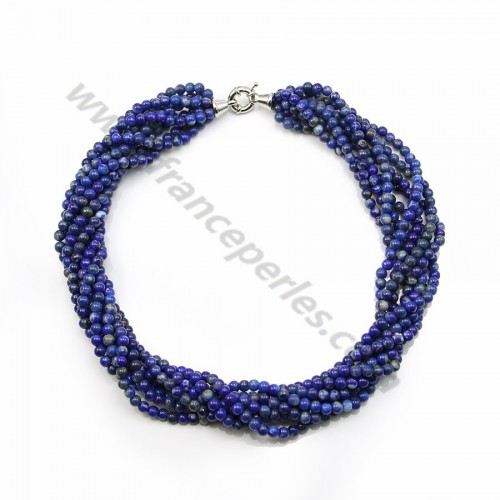 Necklace Tosade Lapis lazuli 8 Rows