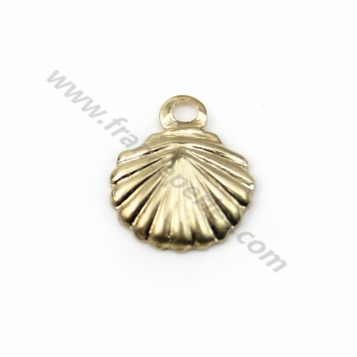 Breloque coquillage 7x7mm gold filled 14k x 4pcs
