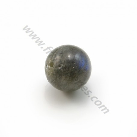 Labradorite half drilled, round 10mm x2pcs