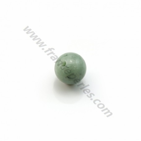 Natural jade half-drilled 6mm x 4pcs