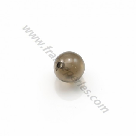 Smoking quartz half-drilled 6mm x 2pcs