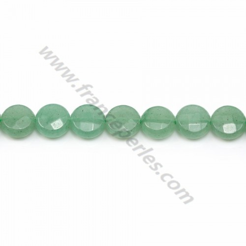 Aventurine flat round faceted 8mm x 40cm