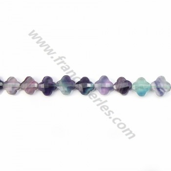 Fluorite clover  faceted 13 mm x 2pcs