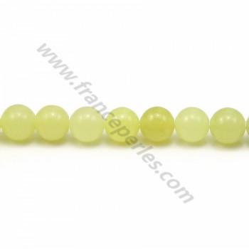 Jade lemon rond 6mm x 40cm
