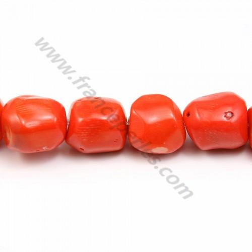 Bambou de mer teinte orange tulips 4*8mm x40cm